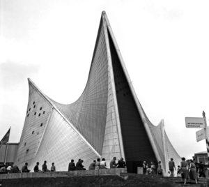 Der Philips-Pavillon auf der Expo58, entworfen von Le Corbusier