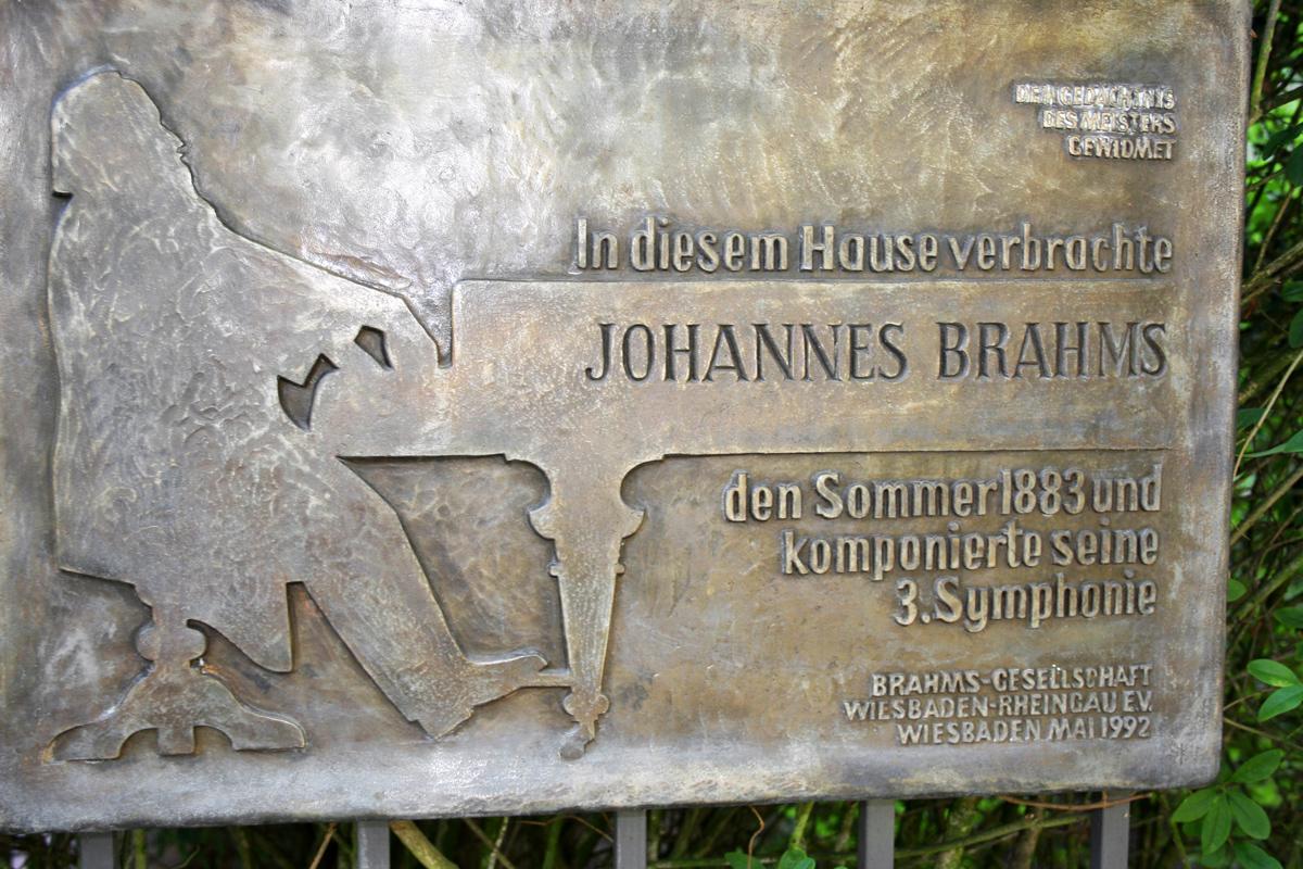 Gedenktafel für Johannes Brahms in Wiesbaden
