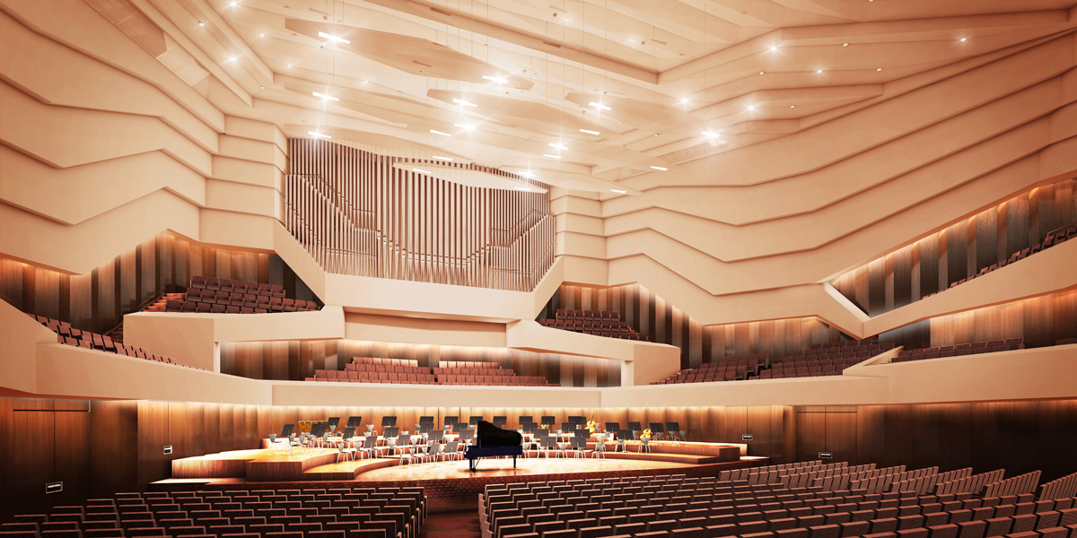 Kulturpalast Dresden Konzertsaal (Visualisierung)
