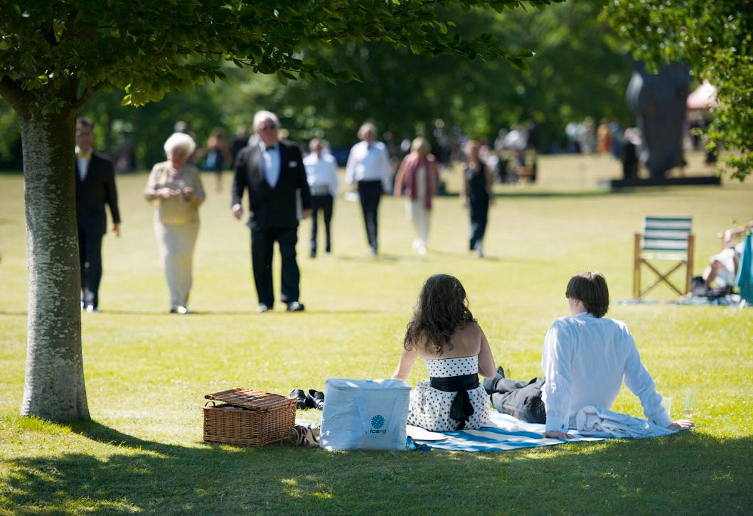 Picknick beim Glyndebourne Festival