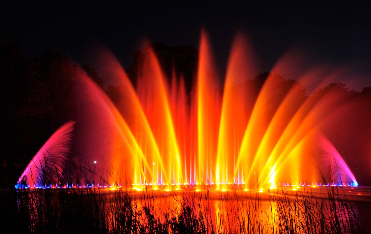 """Wasserlichtkonzert im Hamburger Park """"Planten un Blomen"""""""