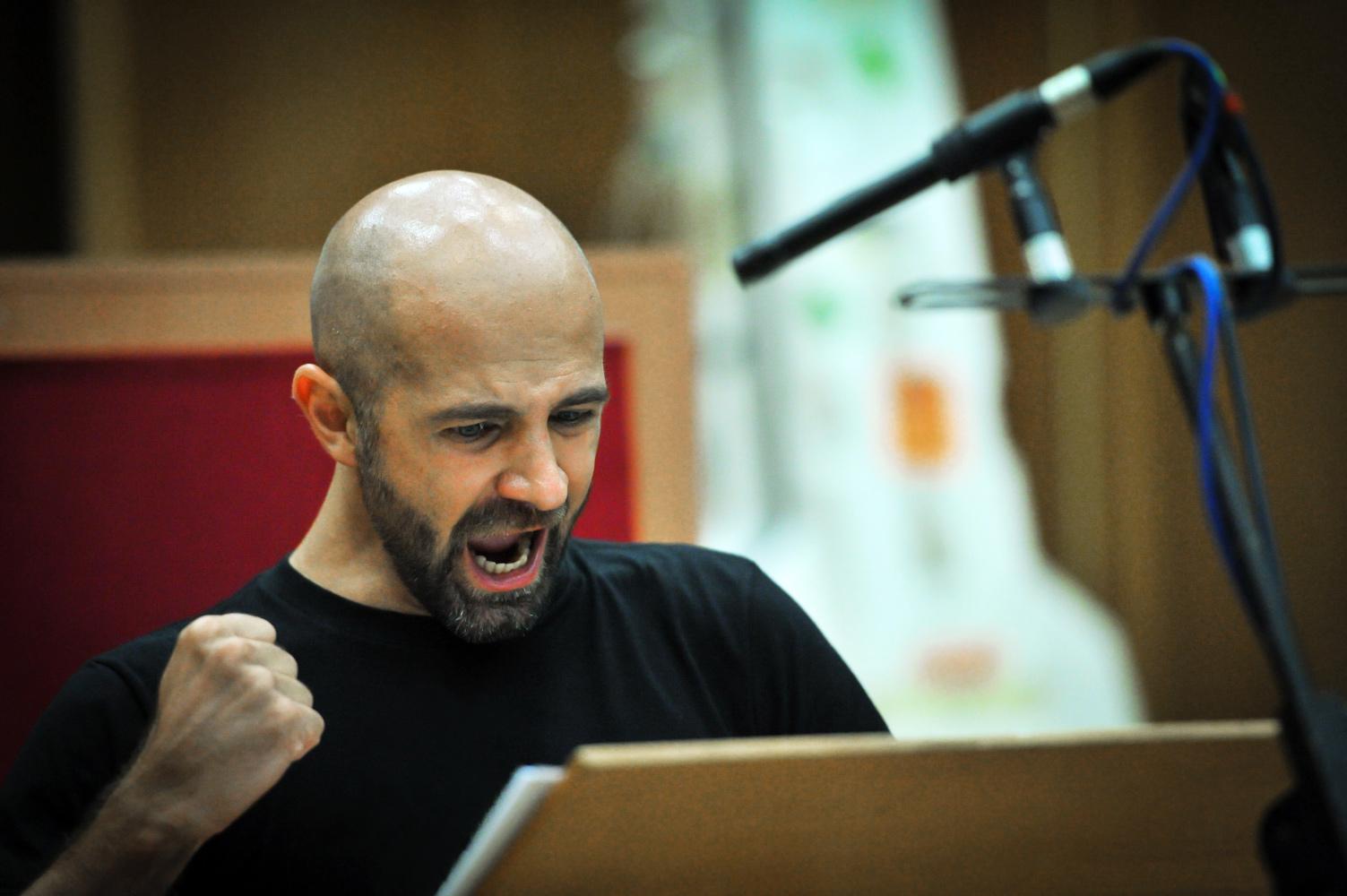 """Der Countertenor Max Emanuel Cenčić bei den Aufnahmen zu seinem Album """"Arminio"""""""