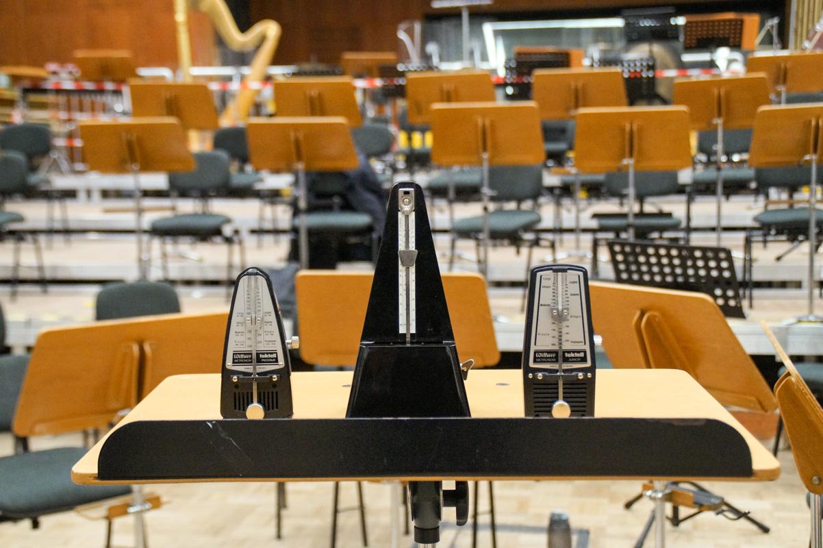Metronome im Probenraum der Münchner Symphoniker