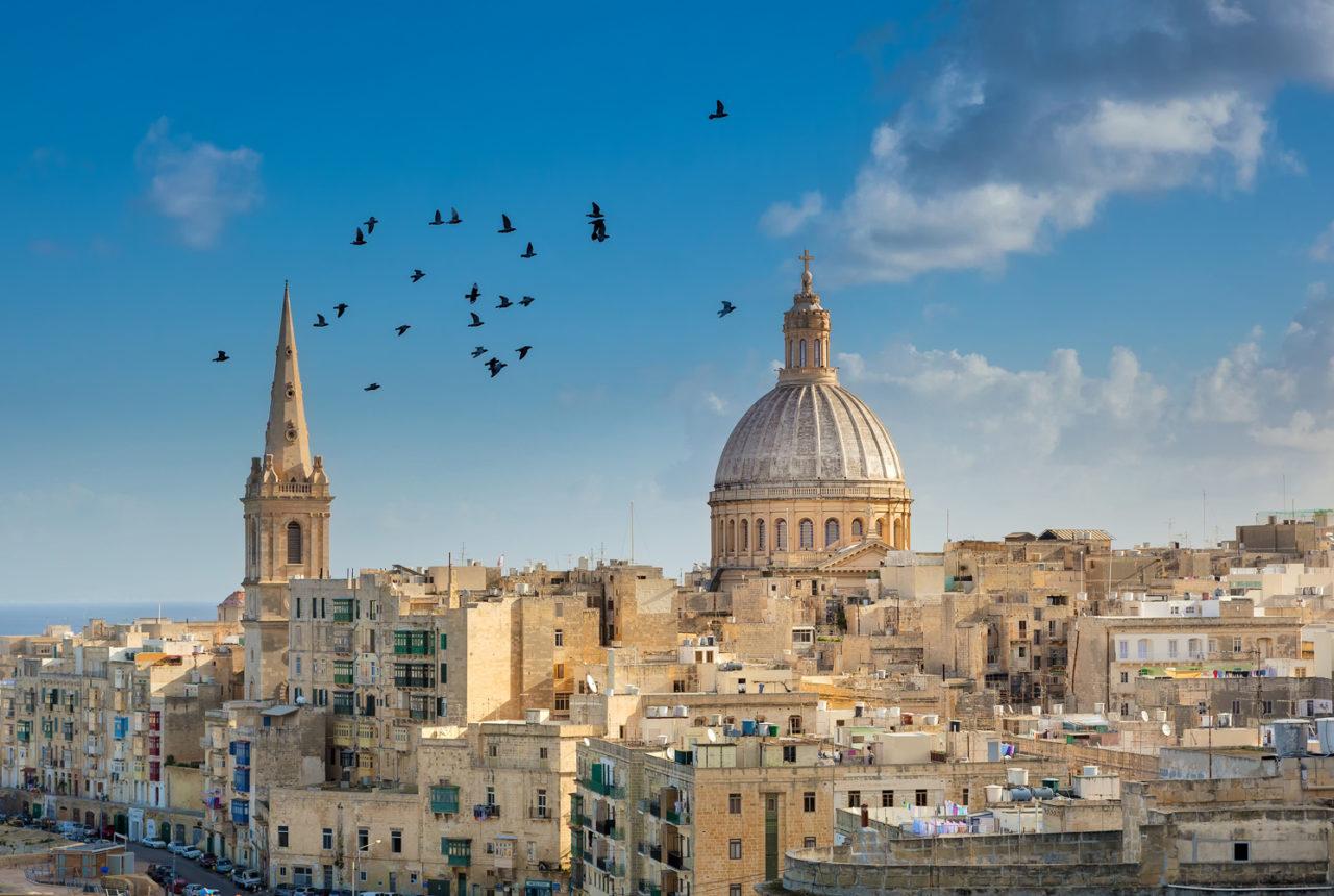Blick über Valletta, Malta