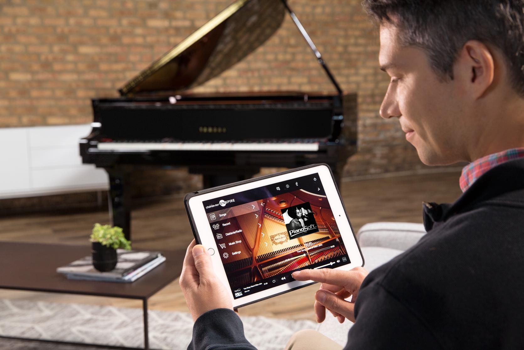 Steuerung des Disklaviers von Yamaha über ein Tablet