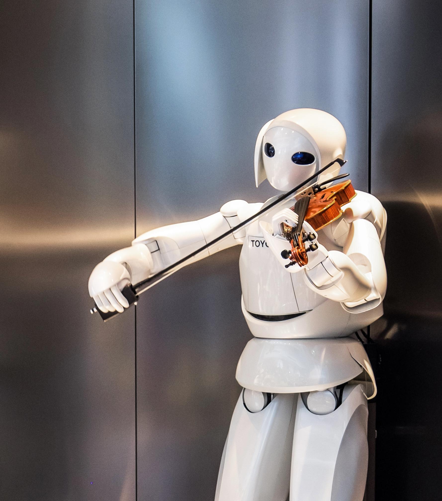Roboter spielt Geige