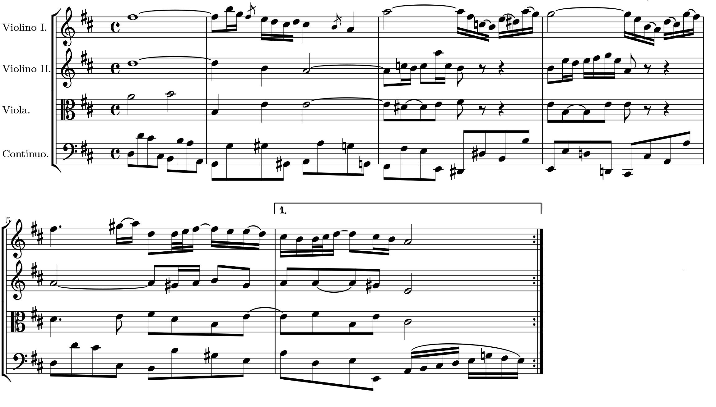 """Johann Sebastian Bach: Thema der """"Air"""" aus der Suite für Orchester BWV 1068"""