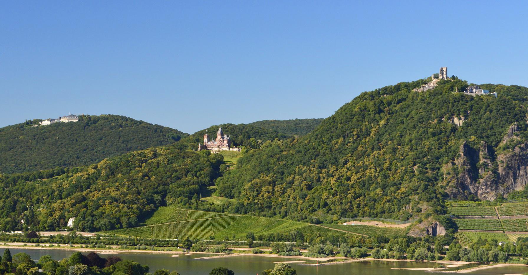 Burgruine Drachenfels und Schloss Drachenburg