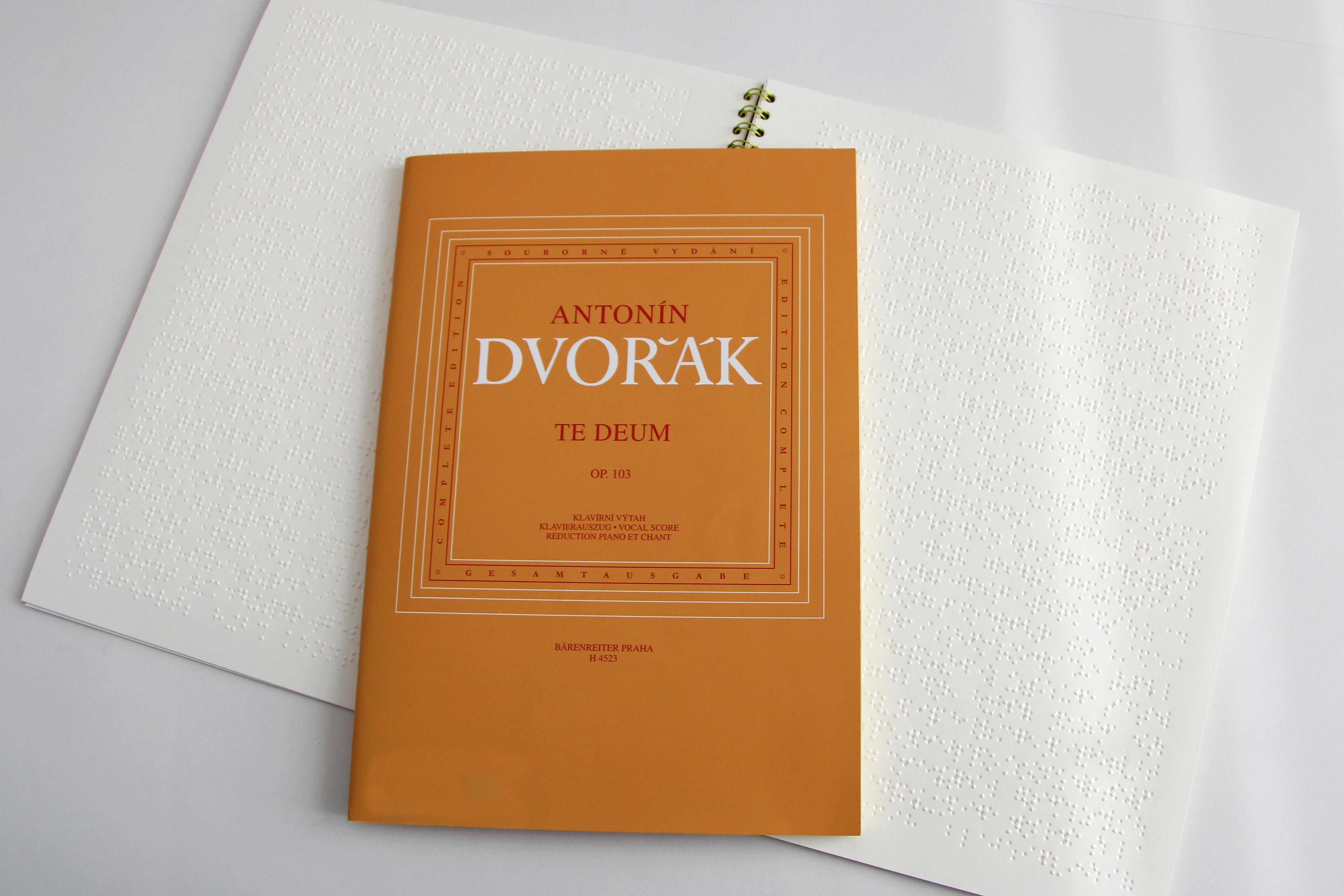 """Braille-Noten des """"Te Deums"""" von Antonín Dvořák"""