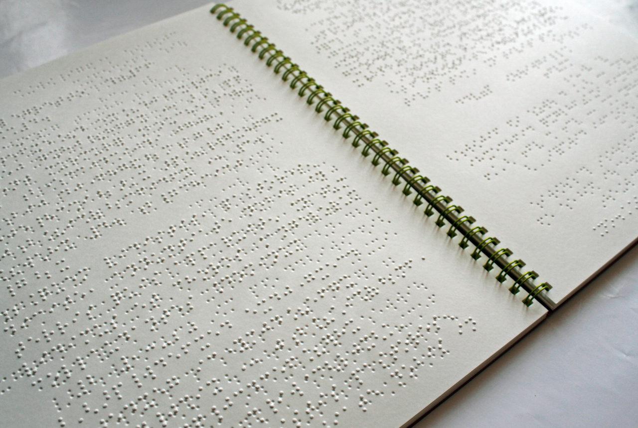 Braille-Noten eines Werkes von Poulenc
