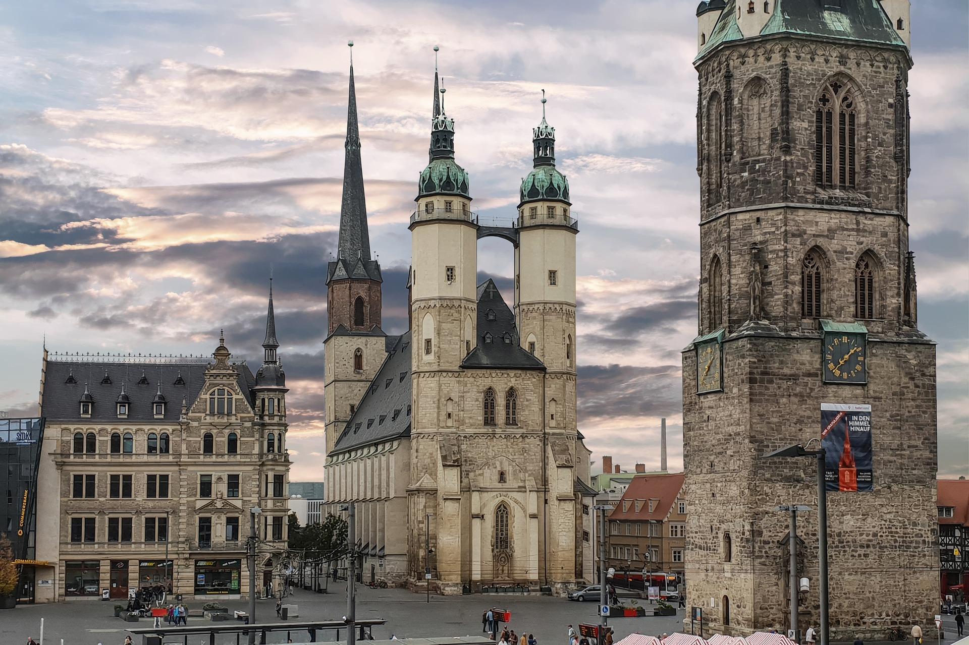 Austragungsort des Bundeswettbewerbs von Jugend musiziert 2019: Halle an der Saale © gemeinfrei/Pixabay