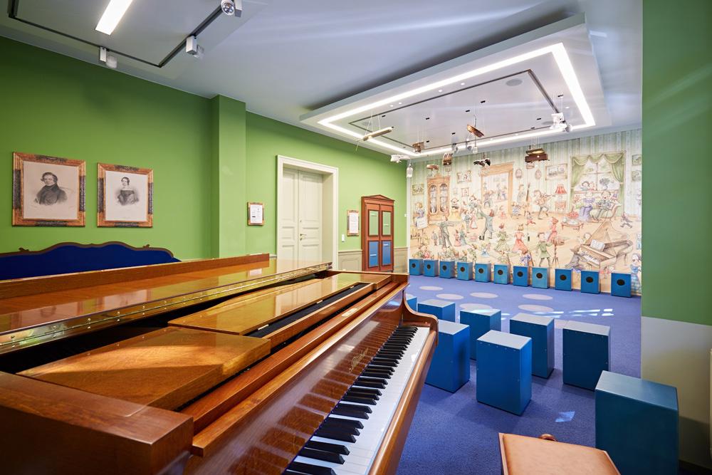 """Der Klangraum im Schumann-Haus wird von den Schulkindern liebevoll """"Weihnachtszimmer"""" genannt © Caro Krekow"""