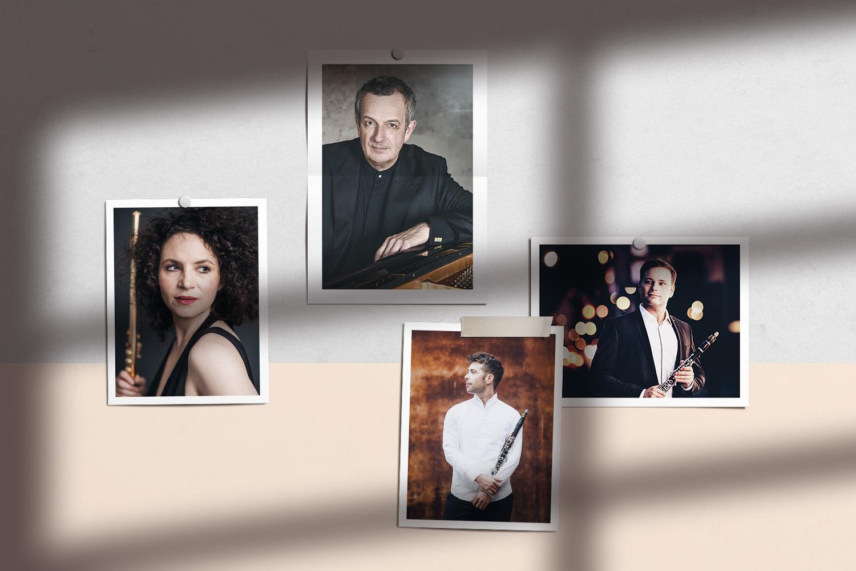 Kuratierten die ersten Ausgaben (v.l.): Kathrin Christians, Michael Korstick, Pablo Barragán, Nicolai Pfeffer © AURIO Musikverlag