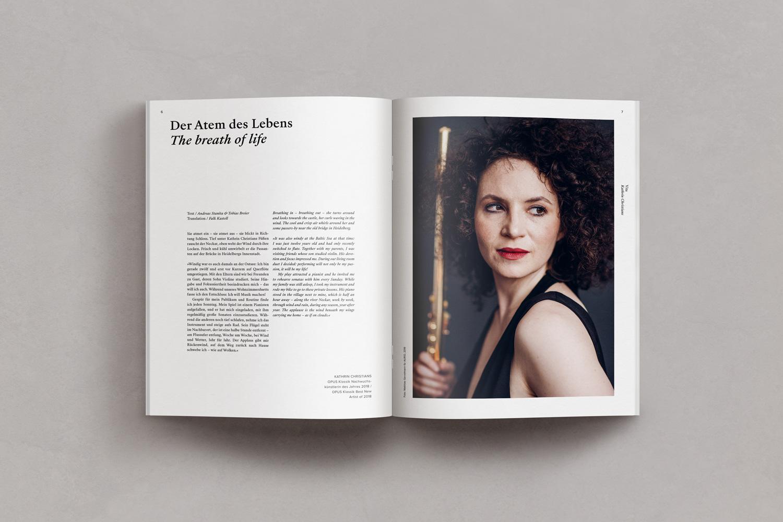 Kathrin Christians kuratierte den Inhalt der Querflöten-Ausgaben © AURIO Musikverlag