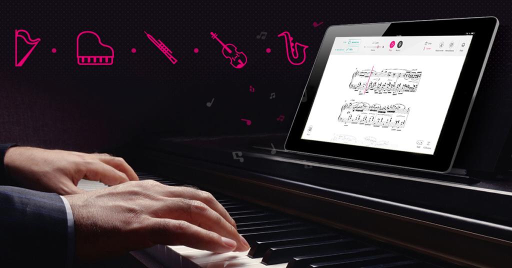 Tomplay ist auch für Pianisten und viele weitere Instrumente geeignet © Tomplay